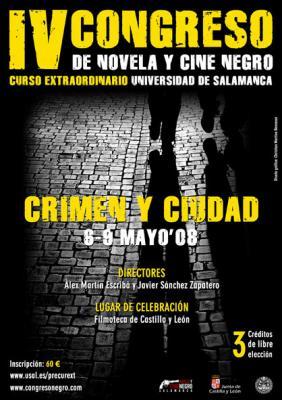 Programa del IV Congreso de Novela y Cine Negro de Salamanca