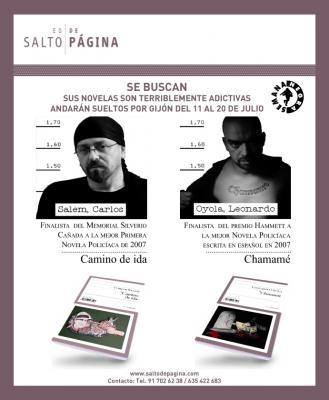 Leonardo Oyola y Carlos Salem, finalistas de los premios Hammett y Silverio Cañada de la XXI Semana Negra