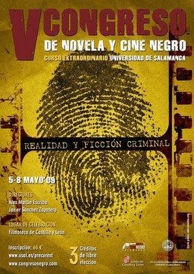 Programa del V Congreso de Novela y Cine Negro de la Universidad de Salamanca
