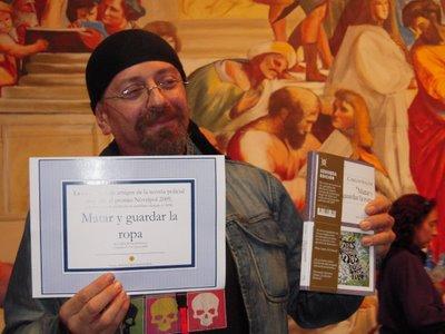 Carlos Salem recibe el Premio Novelpol a la mejor novela publicada en 2008