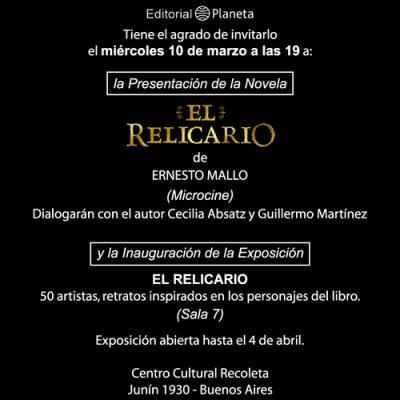 """Presentación de """"El relicario"""", de Ernesto Mallo"""